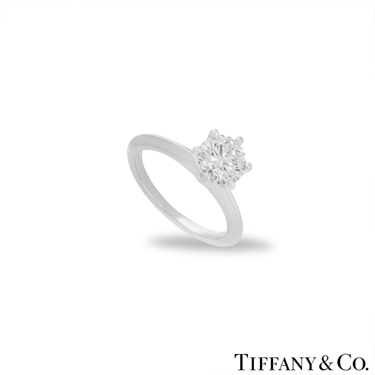 Tiffany & Co. Platinum Diamond Setting Ring 1.08ct I/VS1 XXX